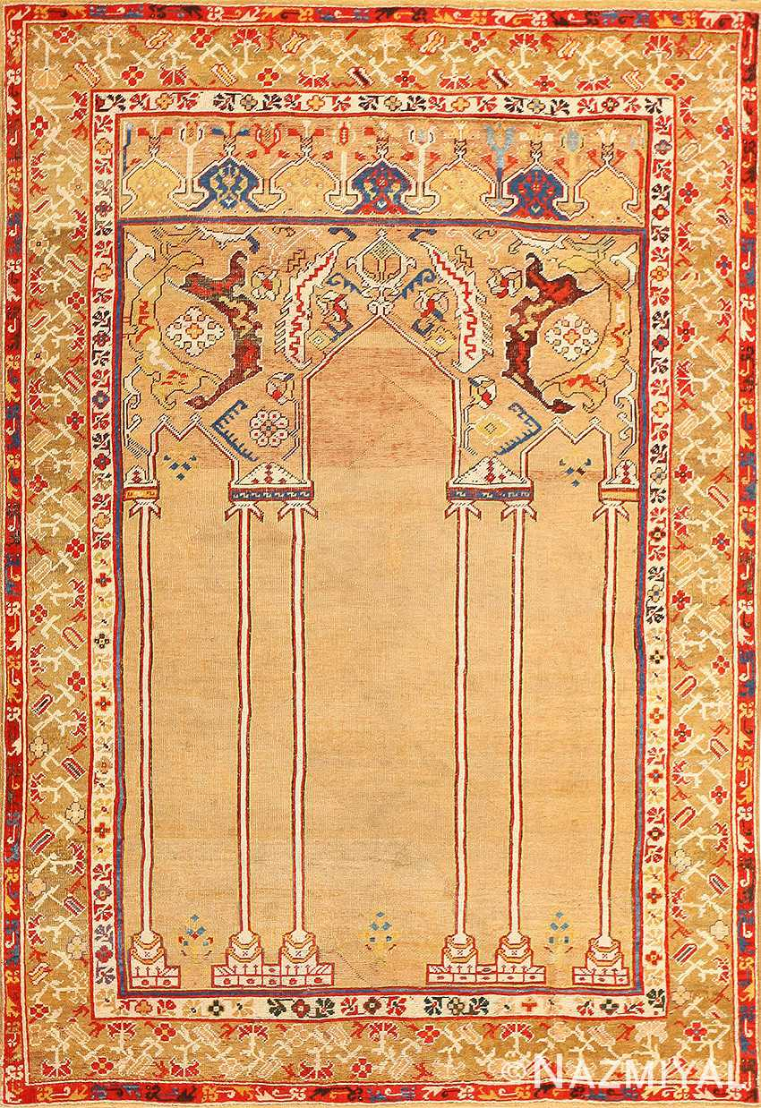 18th Century Antique Double Niche Ottoman Rug 48648 Nazmiyal