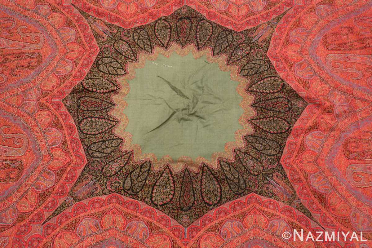 Background fine antique Indian floral shawl 48612 by nazmiyal