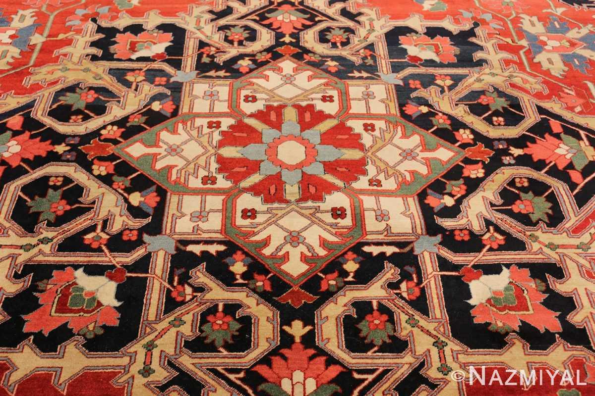 beautiful antique persian serapi rug 48642 center Nazmiyal