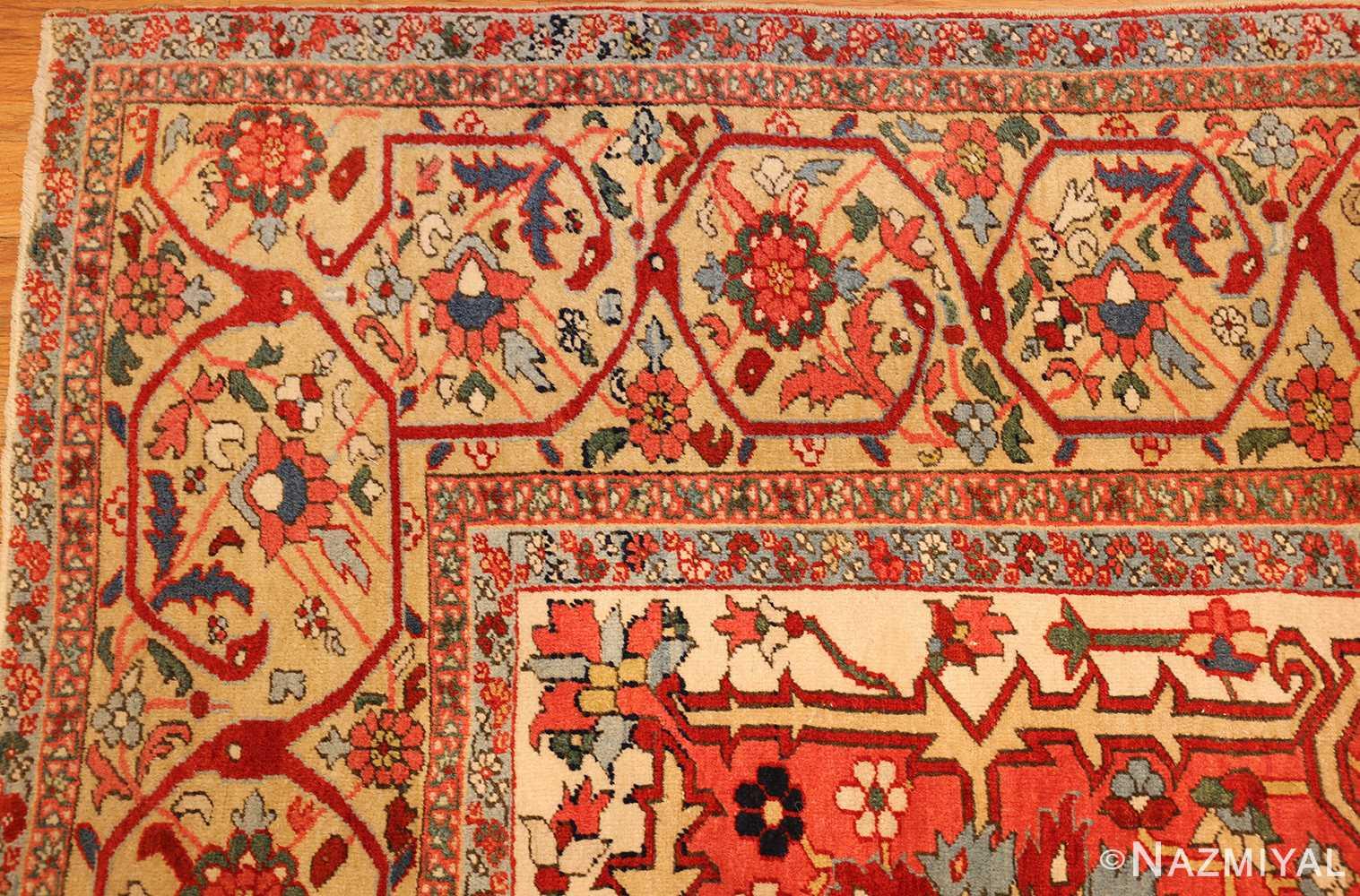 beautiful antique persian serapi rug 48642 corner Nazmiyal