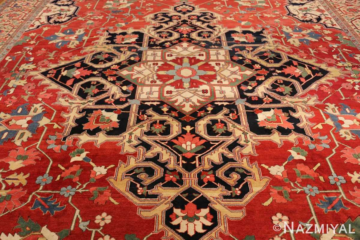 beautiful antique persian serapi rug 48642 medallion Nazmiyal