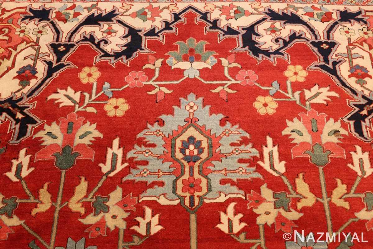 beautiful antique persian serapi rug 48642 top Nazmiyal