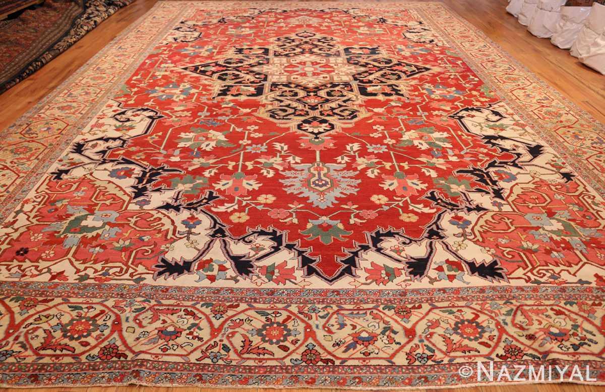 beautiful antique persian serapi rug 48642 weave Nazmiyal
