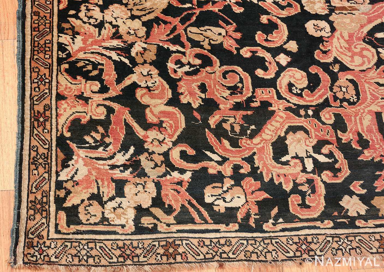 beautiful black background antique karabagh rug 50366 corner Nazmiyal
