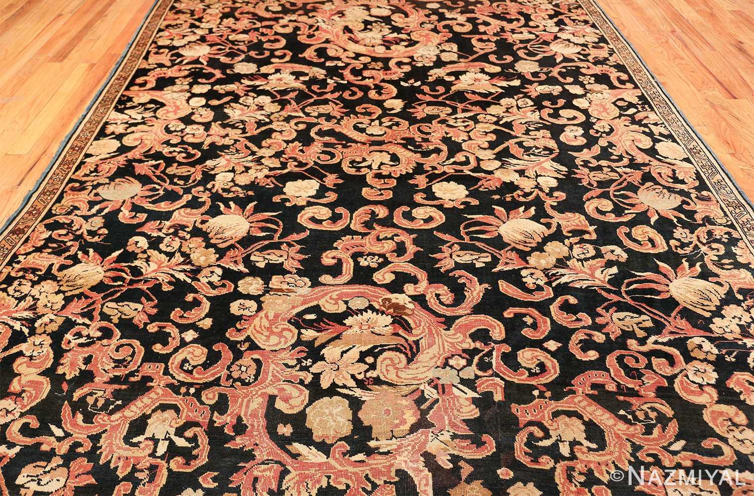beautiful black background antique karabagh rug 50366 entire Nazmiyal