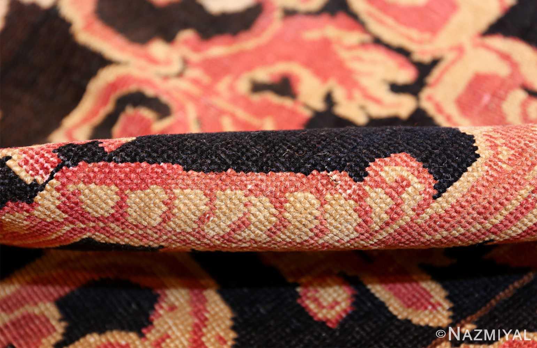 beautiful black background antique karabagh rug 50366 pile Nazmiyal