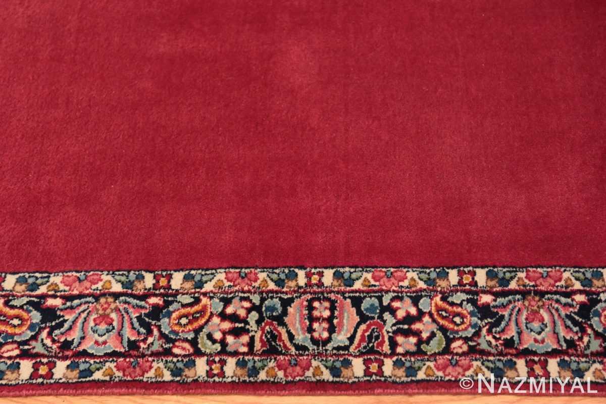 Border Vintage Persian floral Kerman red runner rug 50349 by Nazmiyal