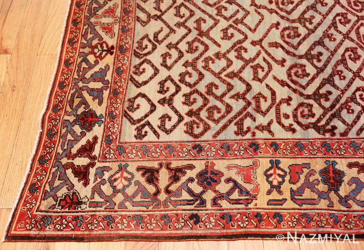 Corner Antique Persian Dragon Bakshaish carpet 48644 by Nazmiyal