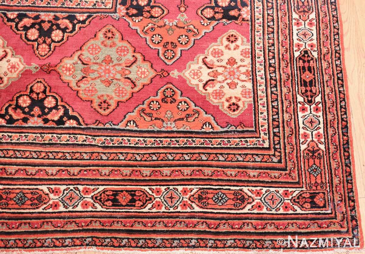 Picture of the border of Large Antique Persian Open Field Khorassan Carpet #47363 From Nazmiyal Antique Rugs in NYC
