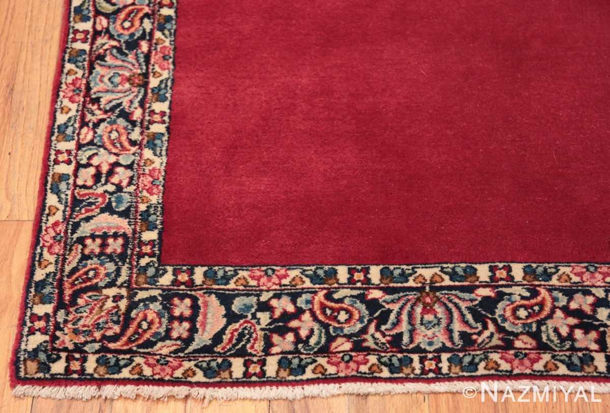 Corner Vintage Persian floral Kerman red runner rug 50349 by Nazmiyal