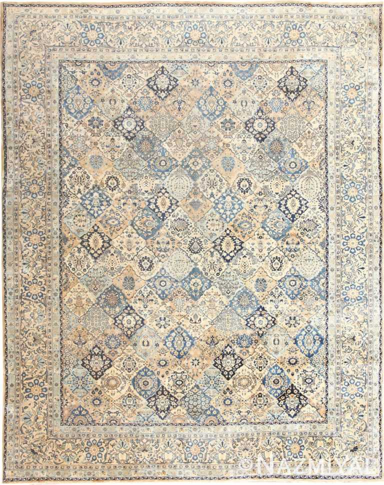 Fine Garden Design Antique Persian Kerman Rug 50375 Nazmiyal