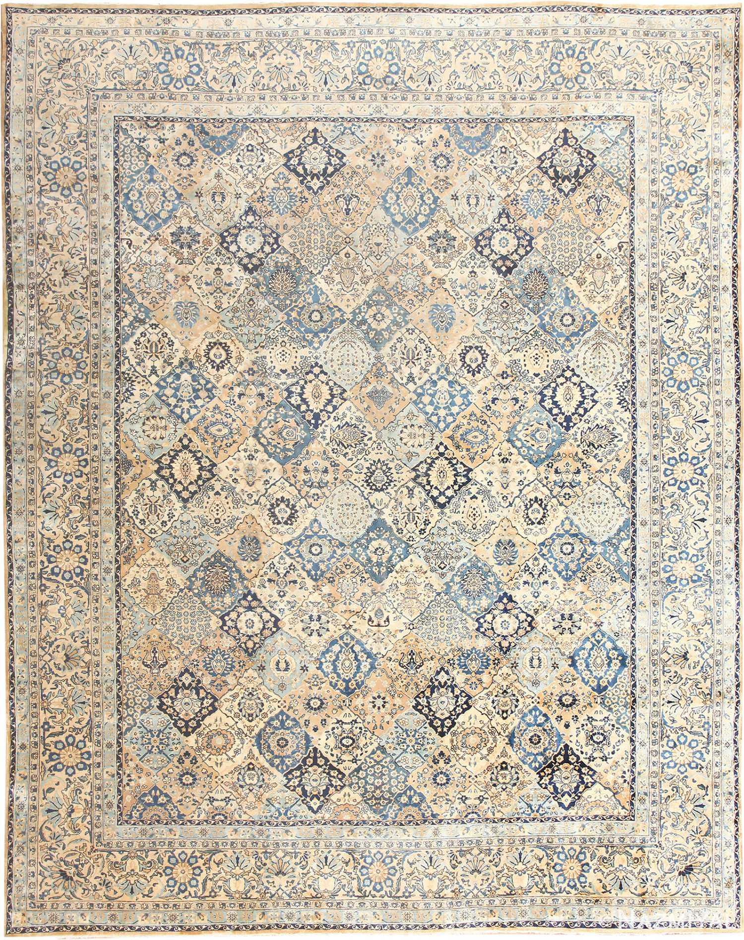 Fine Garden Design Antique Persian Kerman Rug 50375 Nazmiyal