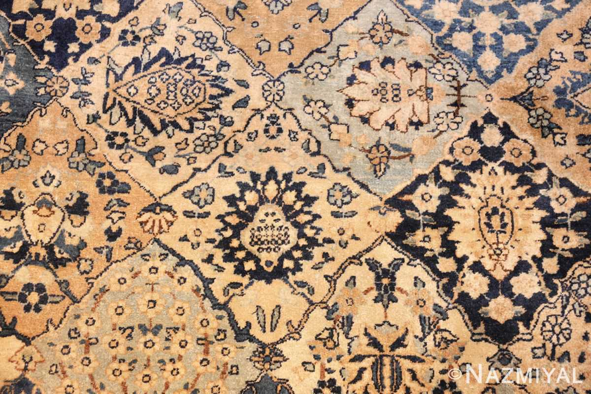 fine garden design antique persian kerman rug 50375 details Nazmiyal