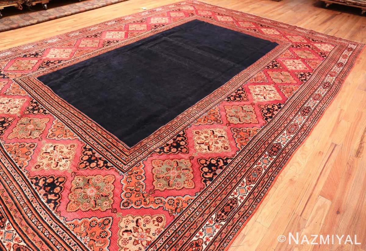 Overall Picture from the side of of Large Antique Persian Open Field Khorassan Carpet #47363 From Nazmiyal Antique Rugs in NYC