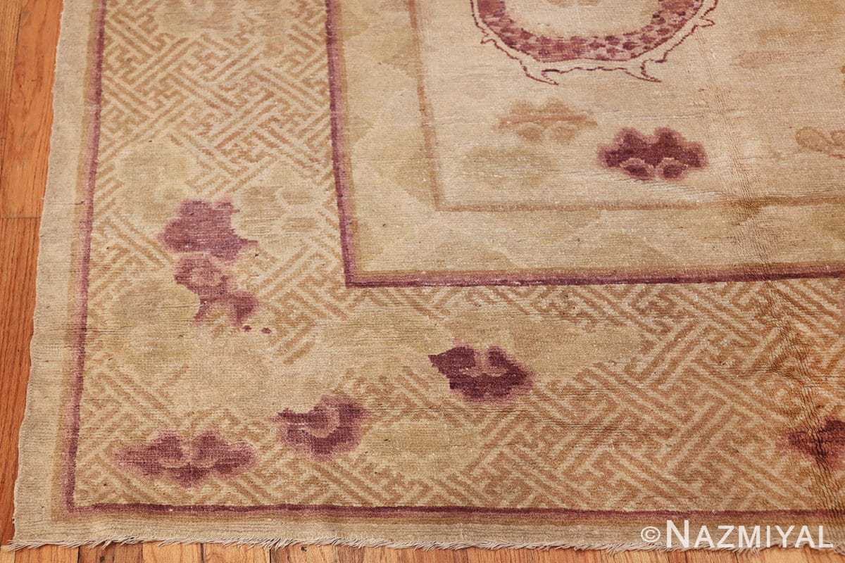 funky antique purple chinese dragon design rug 50385 corner Nazmiyal