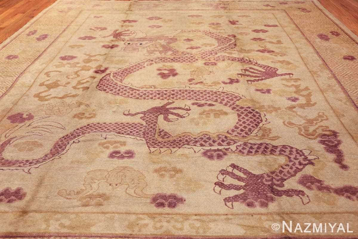 funky antique purple chinese dragon design rug 50385 darkside Nazmiyal