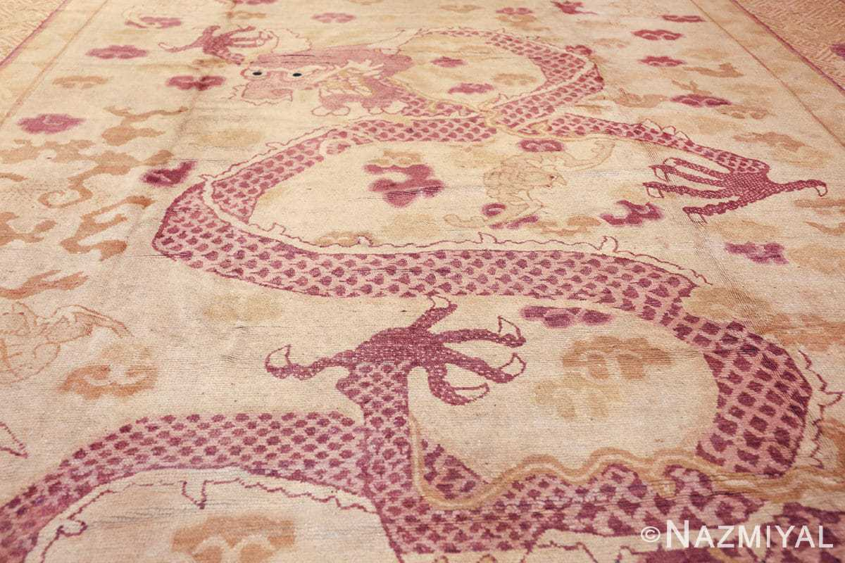 funky antique purple chinese dragon design rug 50385 dragon Nazmiyal