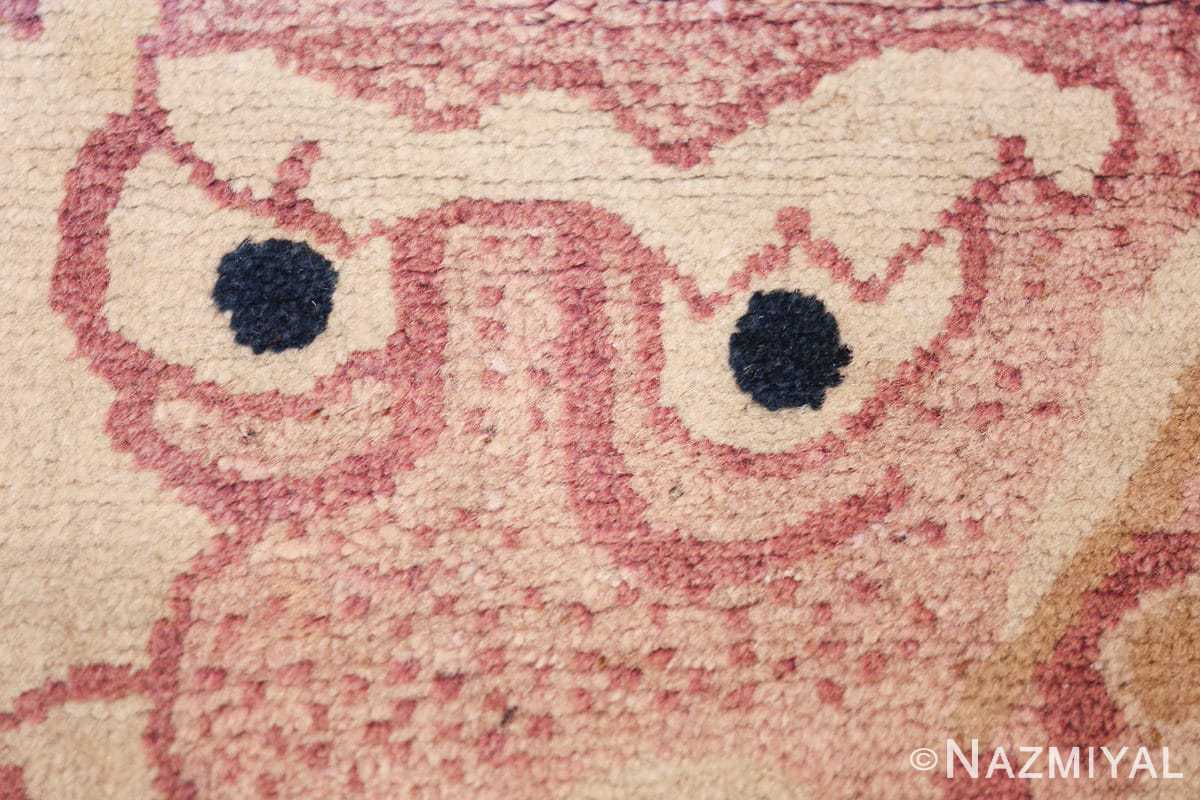 funky antique purple chinese dragon design rug 50385 eyes Nazmiyal