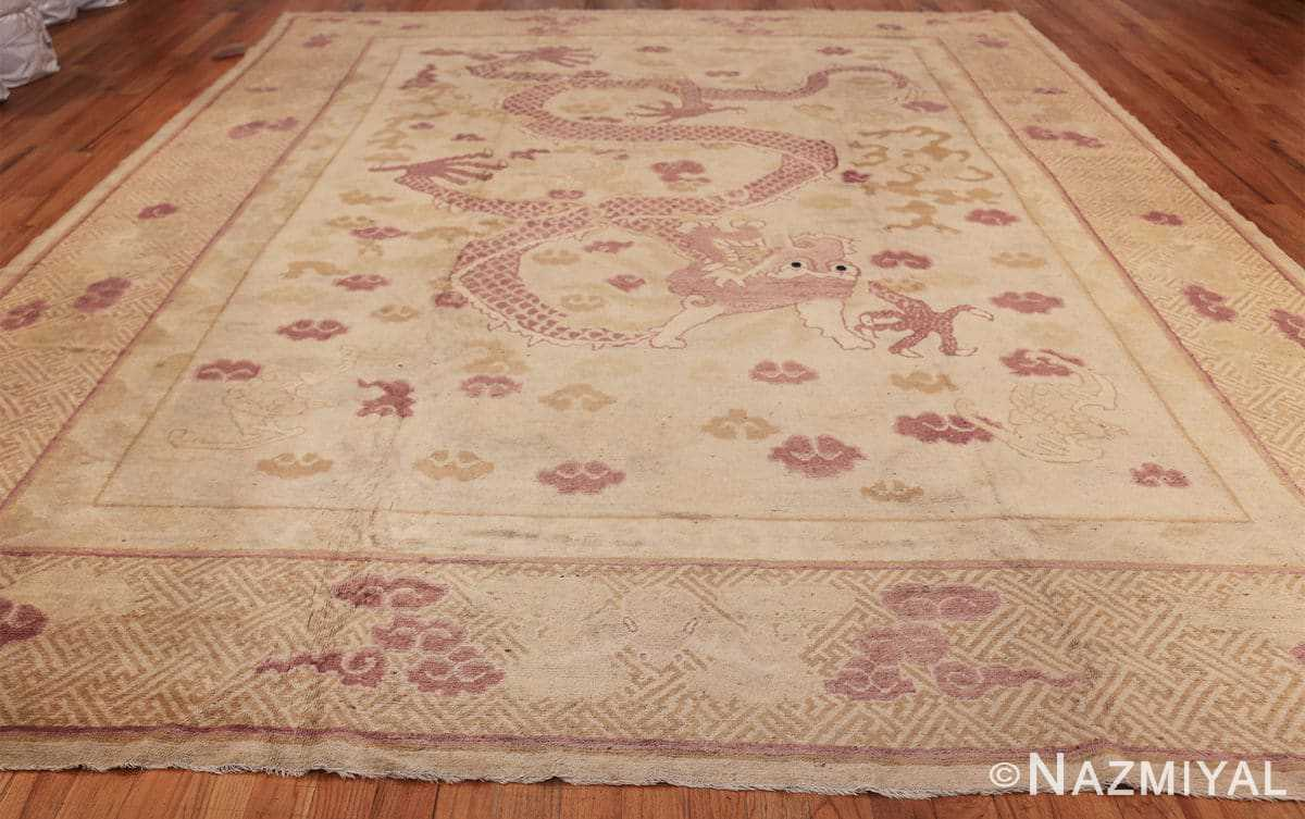 funky antique purple chinese dragon design rug 50385 lightside Nazmiyal