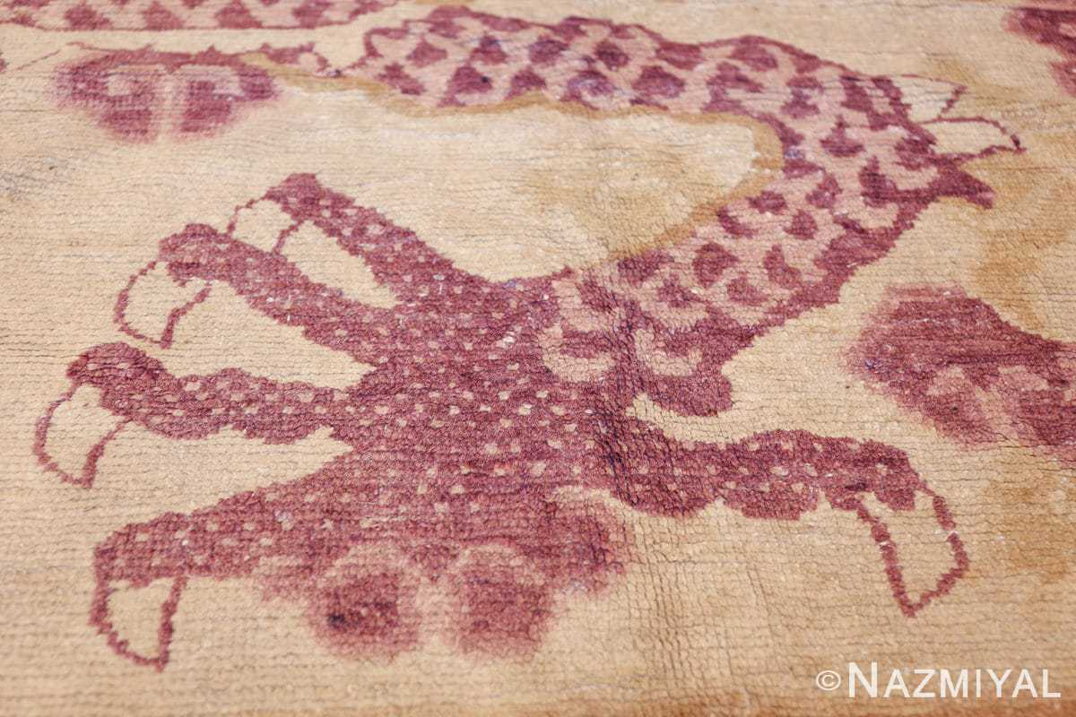 funky antique purple chinese dragon design rug 50385 paws Nazmiyal