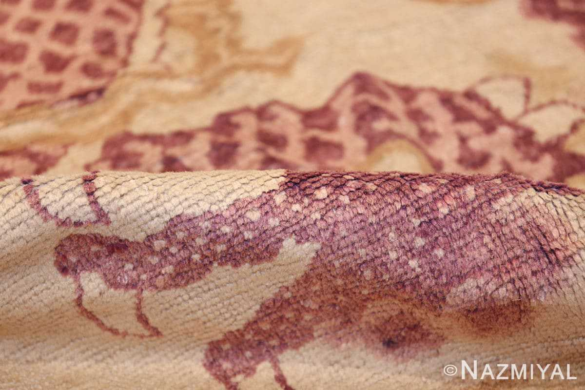 funky antique purple chinese dragon design rug 50385 pile Nazmiyal