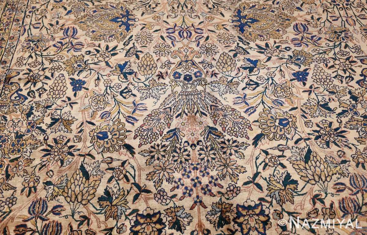 large antique fine persian kerman carpet 50405 blue Nazmiyal