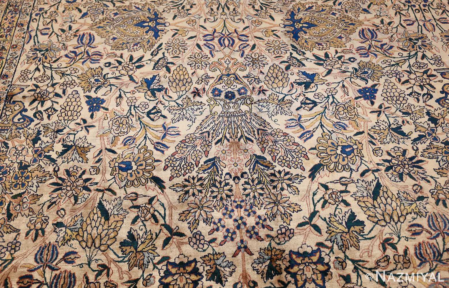 large antique fine persian kerman carpet 50405 blue Nazmiyal
