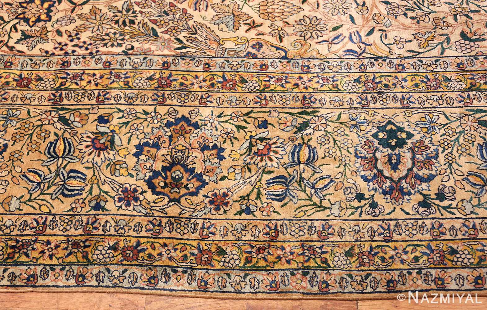 large antique fine persian kerman carpet 50405 border Nazmiyal
