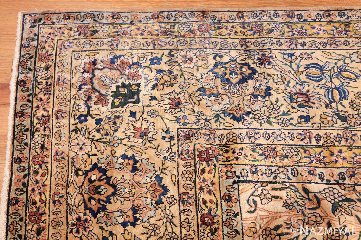 large antique fine persian kerman carpet 50405 corner Nazmiyal