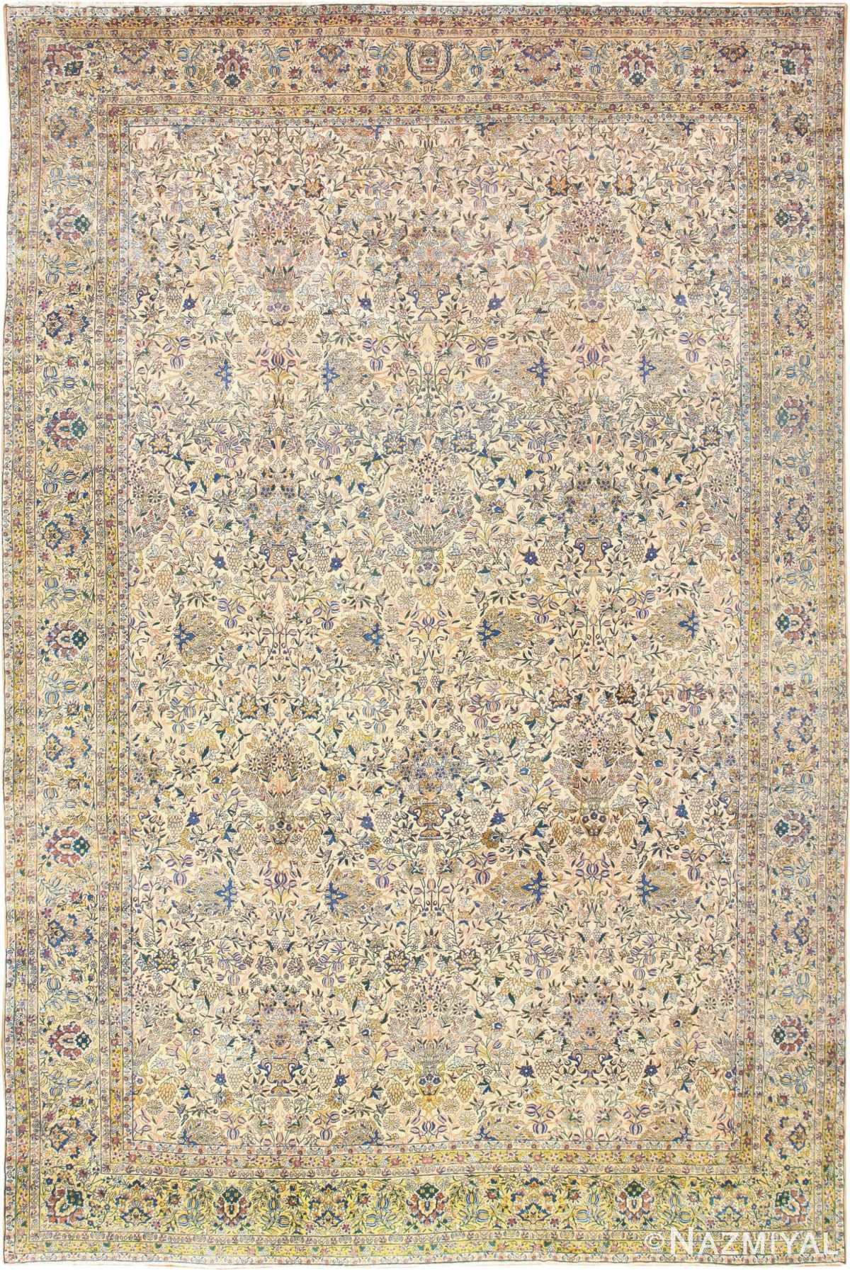 Large Antique Fine Persian Kerman Carpet 50405 by Nazmiyal