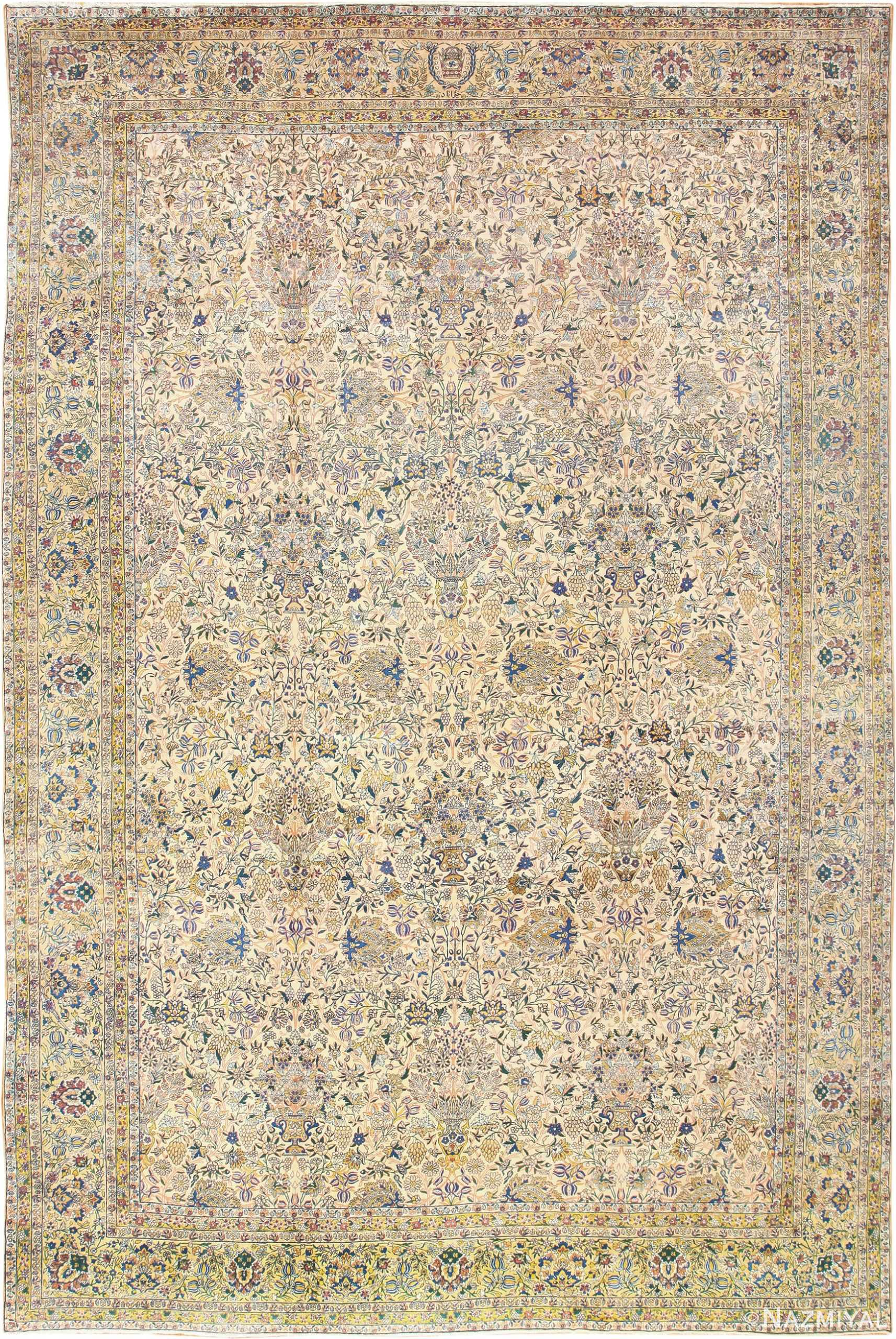 Large Antique Fine Persian Kerman Carpet 50405 by Nazmiyal