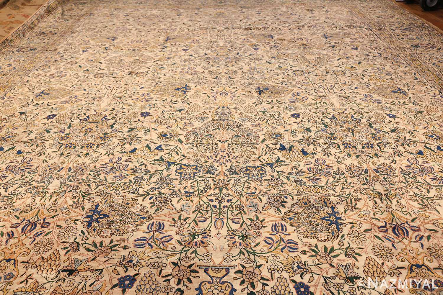 large antique fine persian kerman carpet 50405 full Nazmiyal