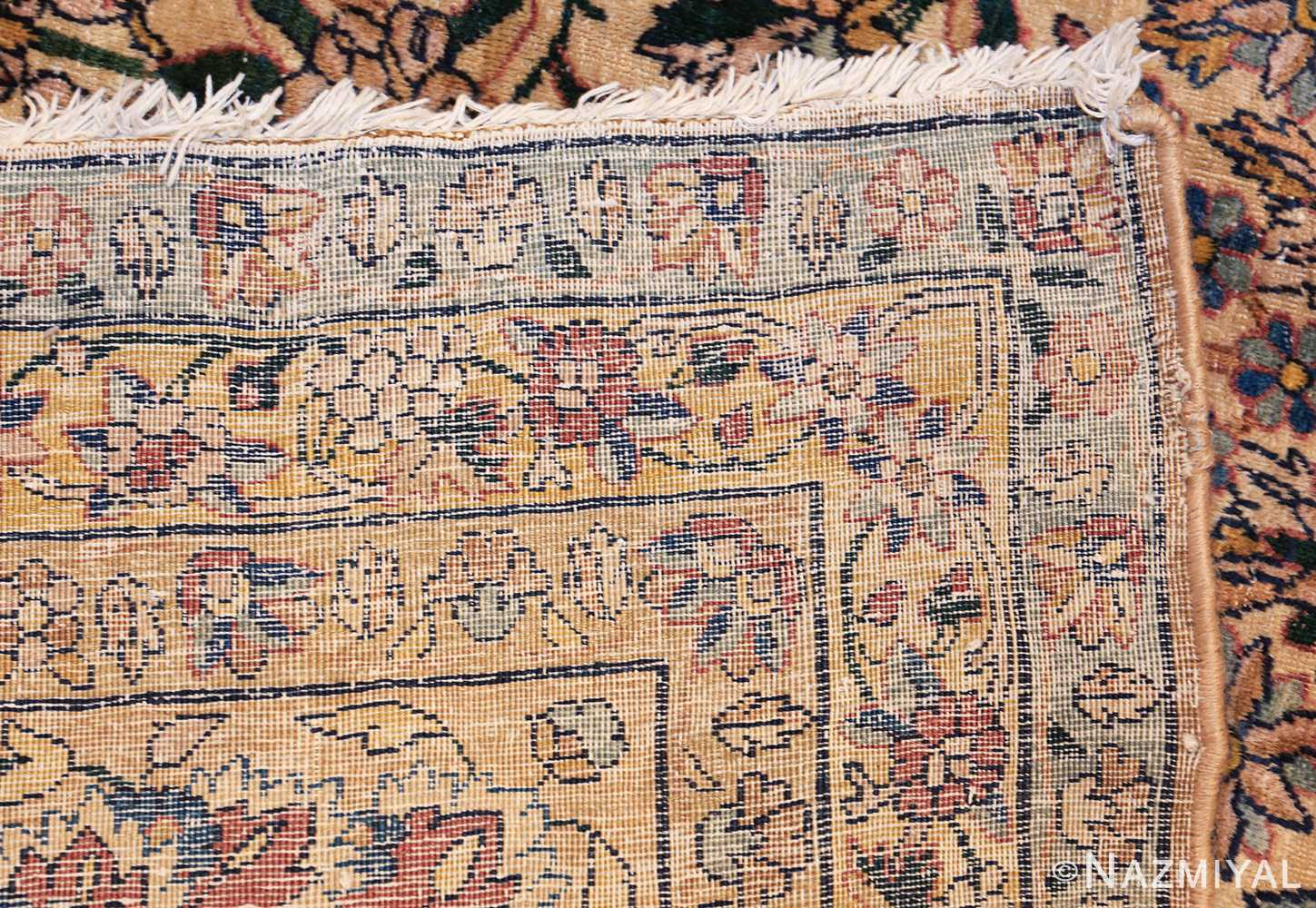 large antique fine persian kerman carpet 50405 weave Nazmiyal