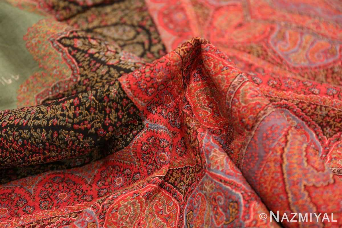 Pile fine antique Indian floral shawl 48612 by Nazmiyal
