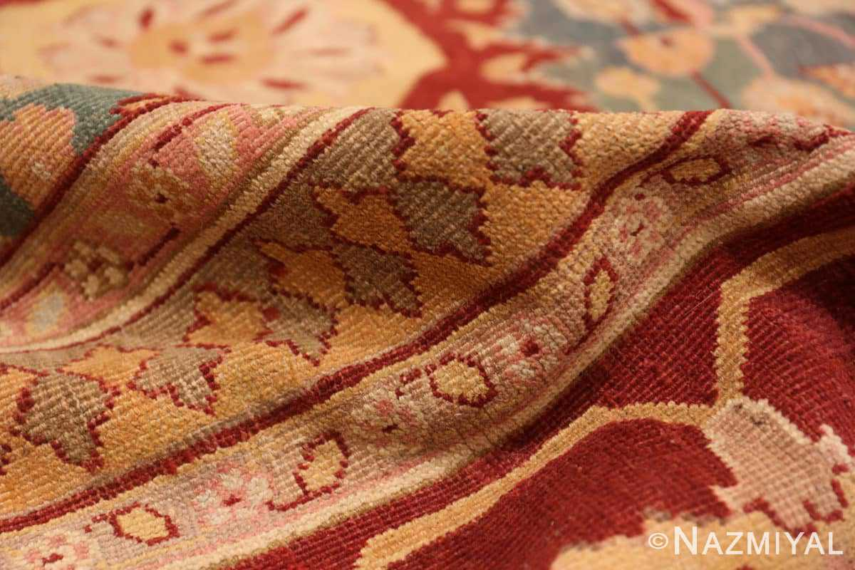 Pile Light blue Antique Indian Agra carpet 48646 by Nazmiyal