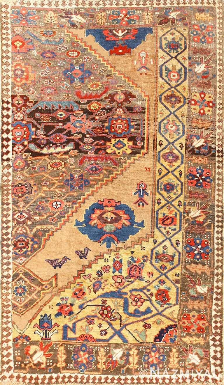 Rare Antique Tribal Persian Bidjar Sampler Rug 48628 Nazmiyal