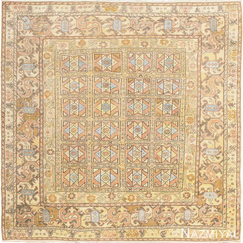 Square Size Antique Decorative Turkish Oushak Rug 50246 Nazmiyal
