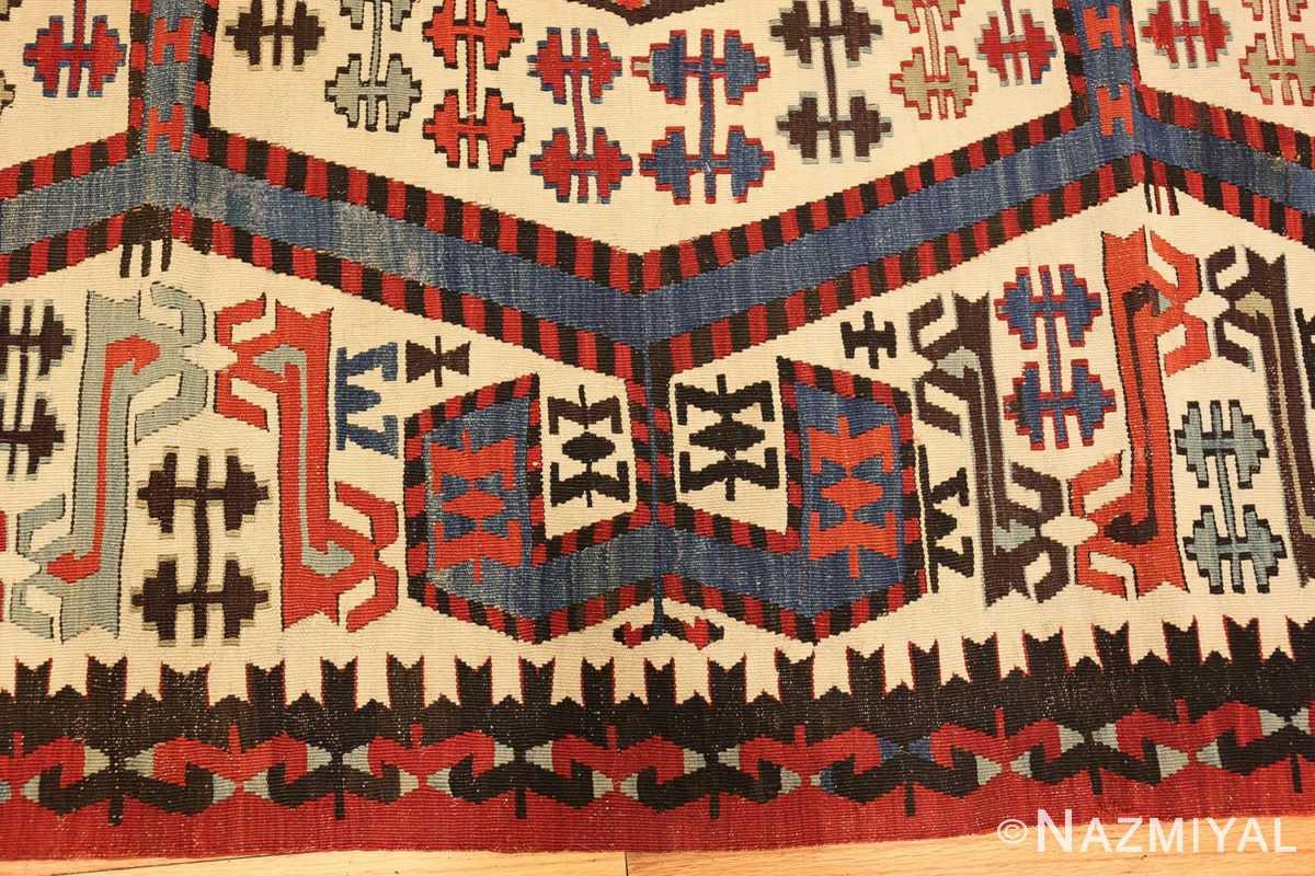 tribal antique 19th century turkish kilim 48609 border Nazmiyal