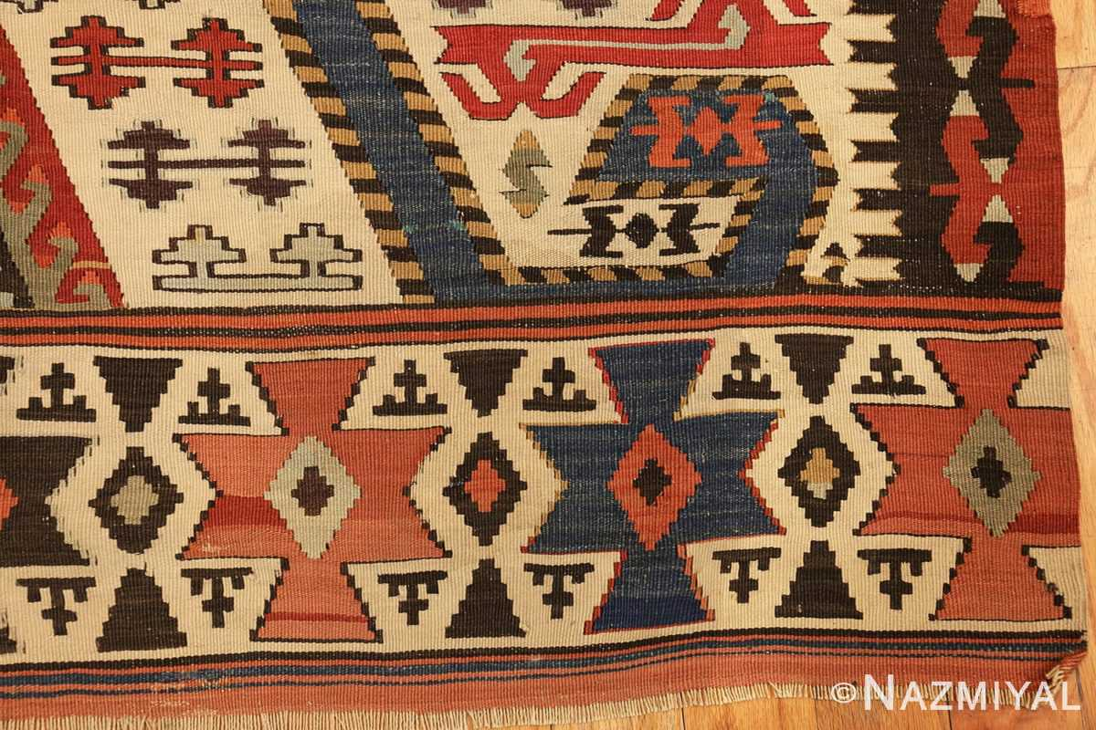 tribal antique 19th century turkish kilim 48609 corner Nazmiyal