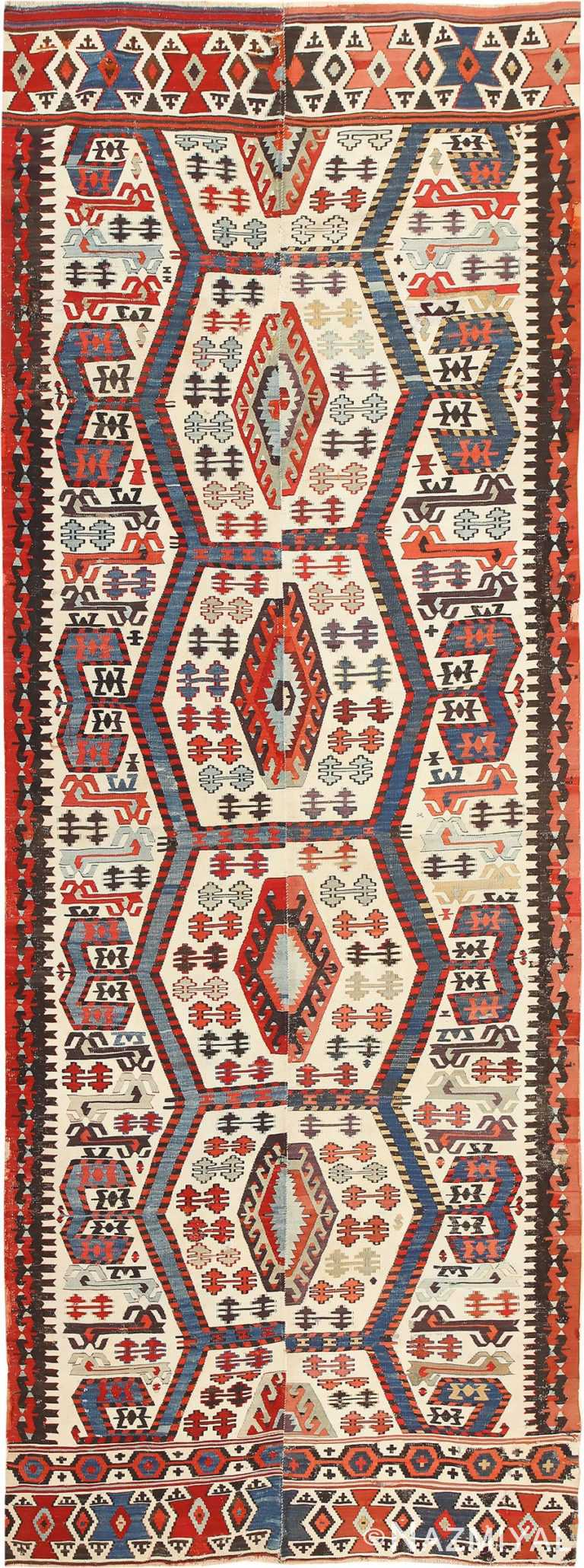 Tribal Antique 19th Century Turkish Kilim 48609 Nazmiyal