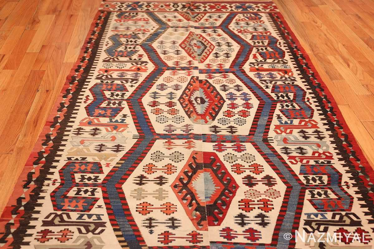tribal antique 19th century turkish kilim 48609 field Nazmiyal