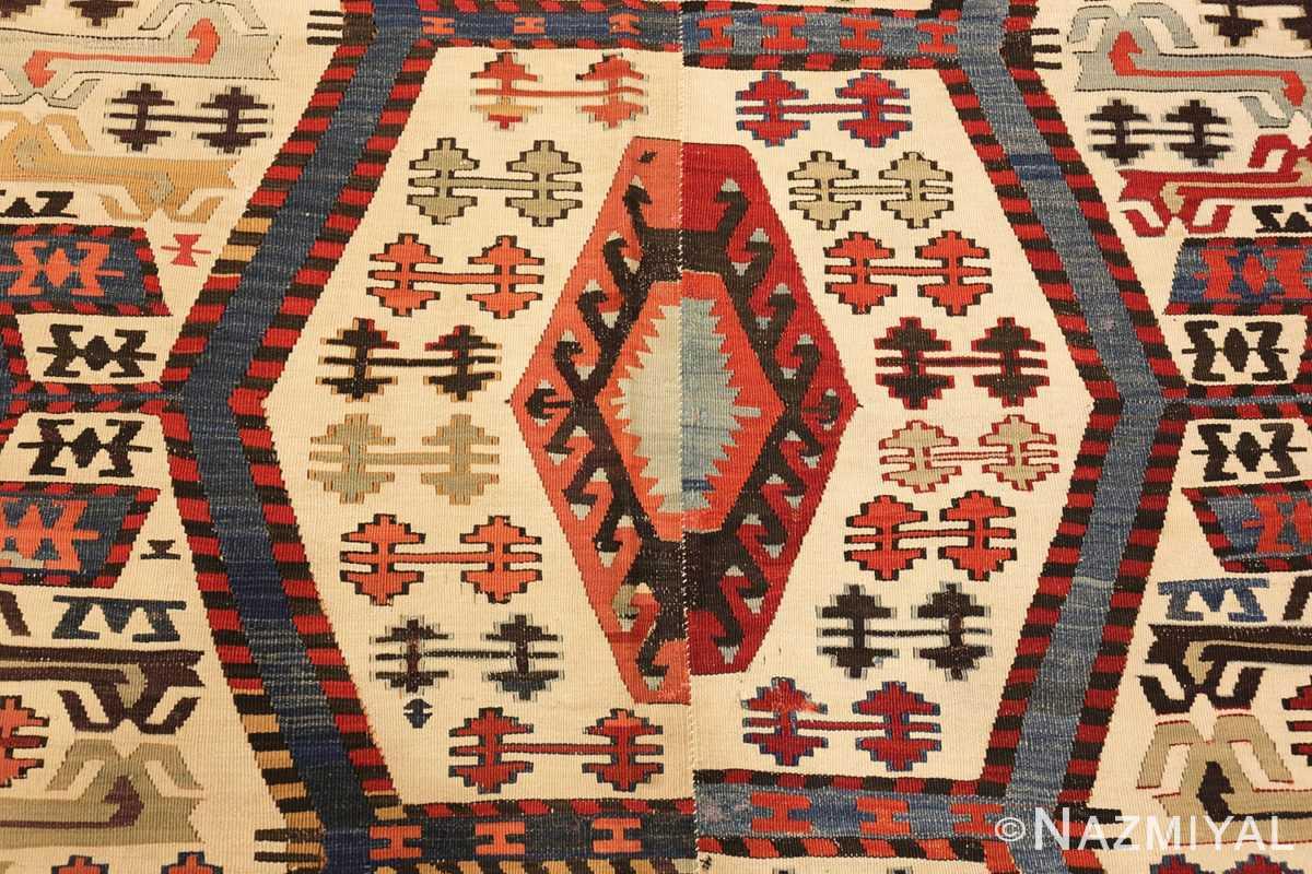 tribal antique 19th century turkish kilim 48609 middle Nazmiyal