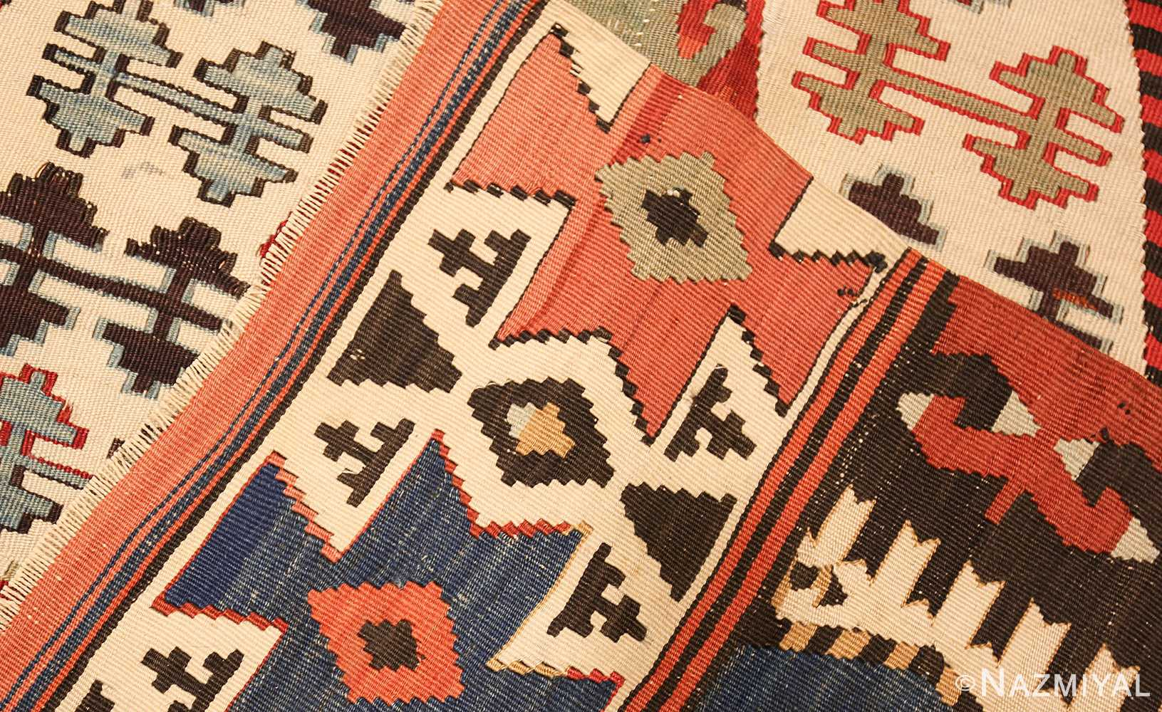 Tribal Antique 19th Century Turkish Kilim 48609 By Nazmiyal