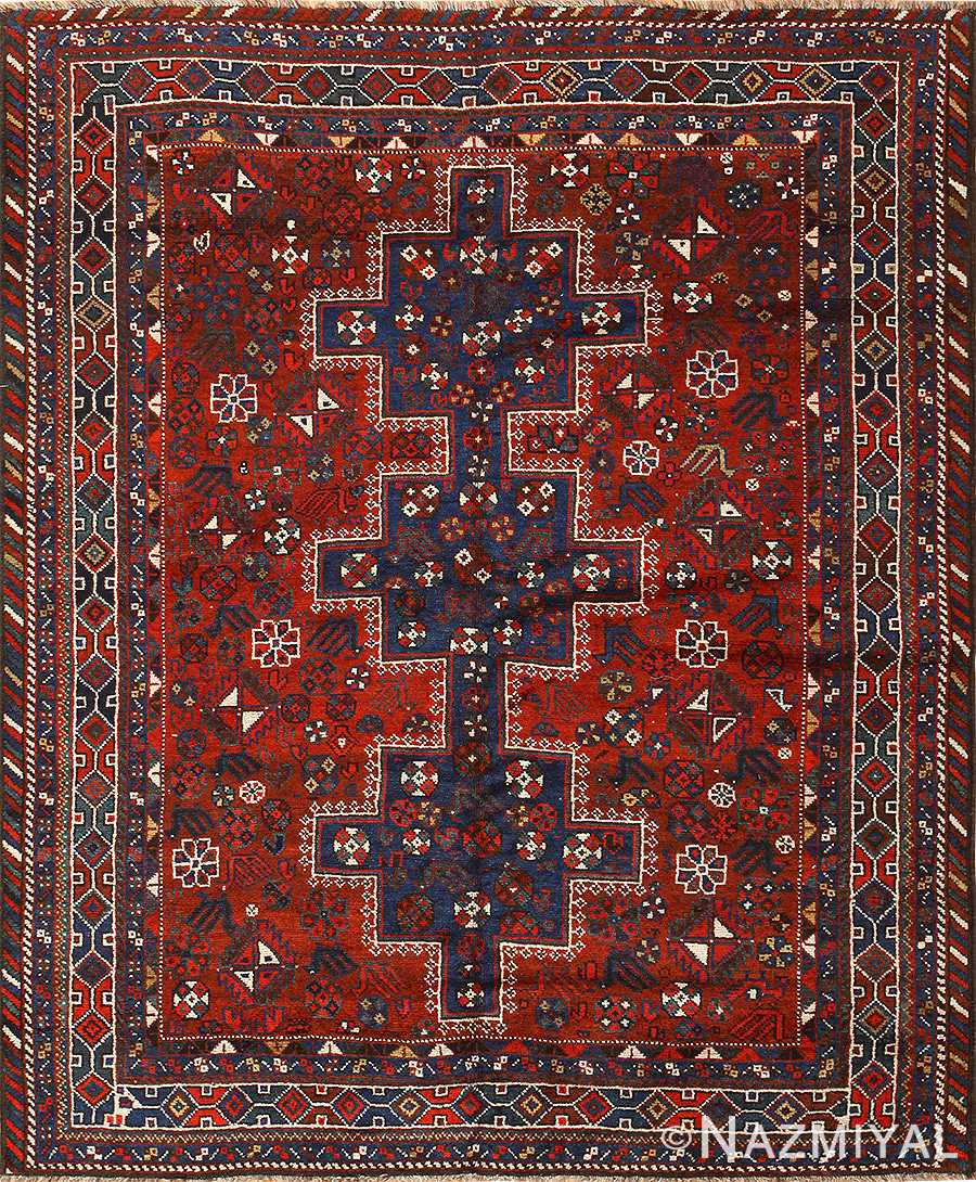 Vintage Persian Tribal Qashqai Rug 50355 By Nazmiyal