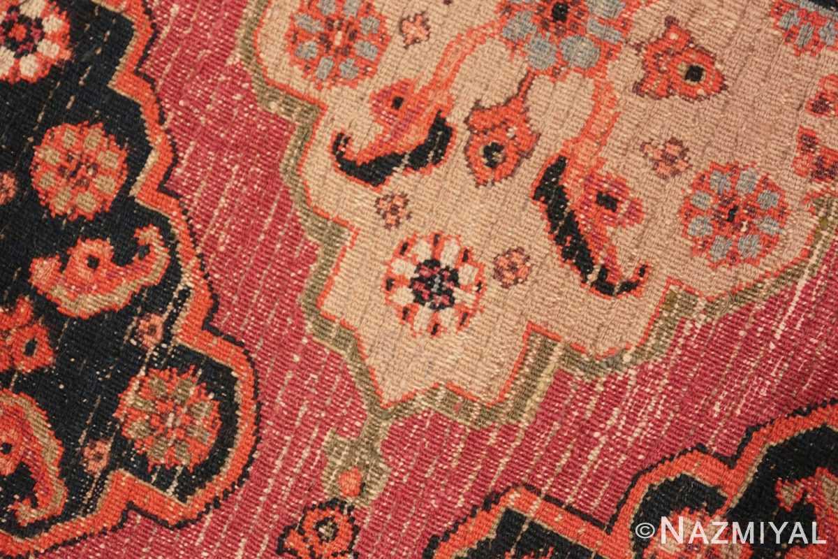 Weave detail Large Antique Persian Khorassan carpet 47363 by Nazmiyal