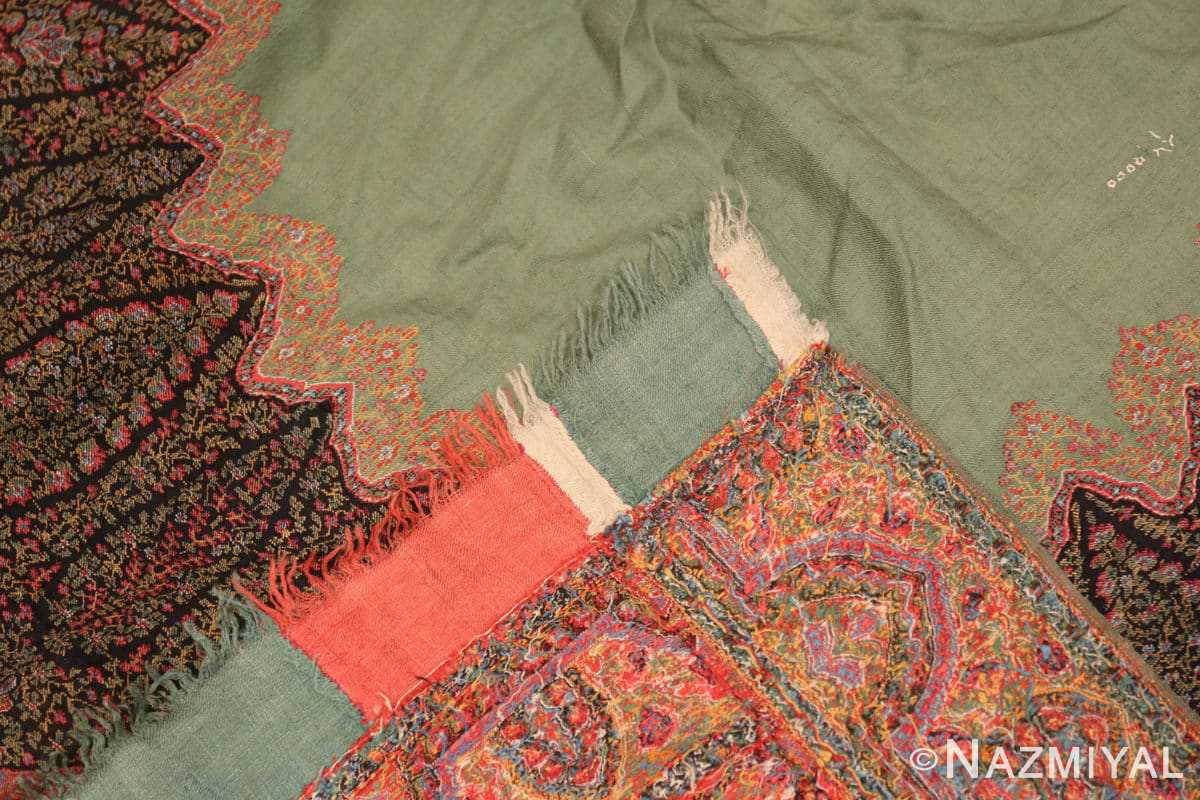 Weave fine antique Indian floral shawl 48612 by Nazmiyal