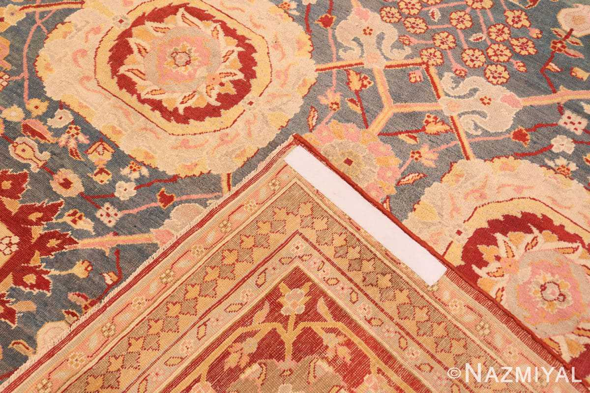 Weave Light blue Antique Indian Agra carpet 48646 by Nazmiyal