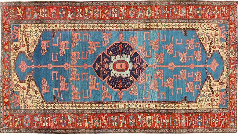 Antique Bakshaish Persian Oriental Rug by Nazmiyal