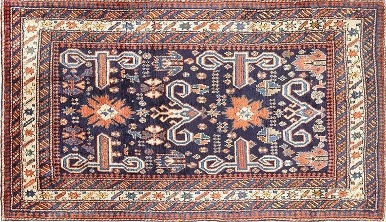 Antique Caucasian Perpedil Shirvan Oriental Rug by Nazmiyal