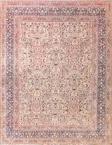 Antique Floral Persian Khorassan Rug 50437 Nazmiyal